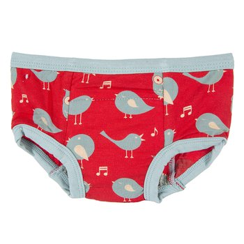 Training Pant in Jazz Singing Bird with Jade Trim