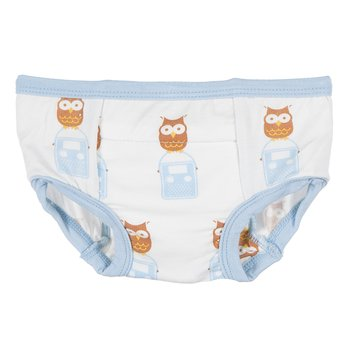 Training Pant in Natural Radio Owl with Pond Trim