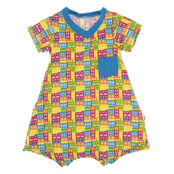 Rhododendron Pi/ñata - 18-24 Months Kickee Pants Print Short Sleeve One Piece Dress Romper