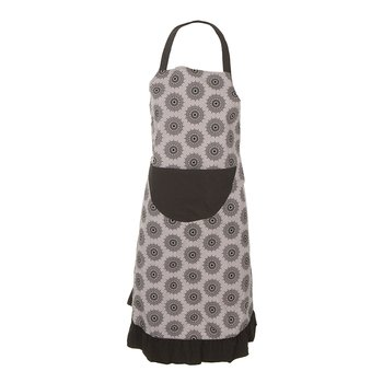 Women's Print Ruffle Apron in Feather Mandala