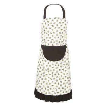 Women's Print Ruffle Apron in Natural Star Anise