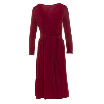 Solid Basic Robe in Crimson