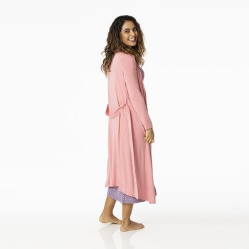 Solid Basic Robe in Desert Rose