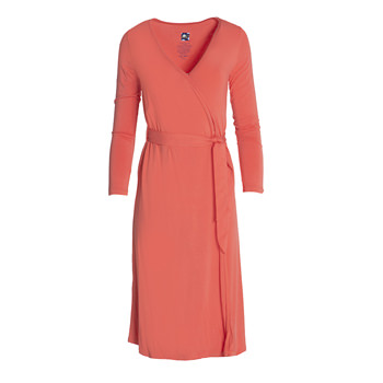 Solid Basic Robe in English Rose