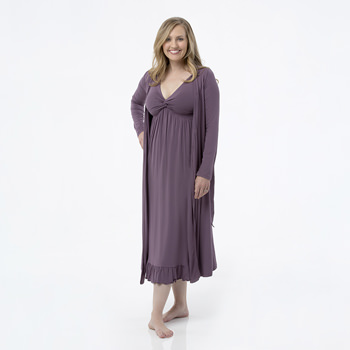 Solid Basic Robe in Fig