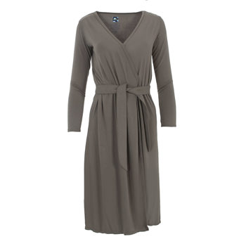 Solid Basic Robe in Falcon