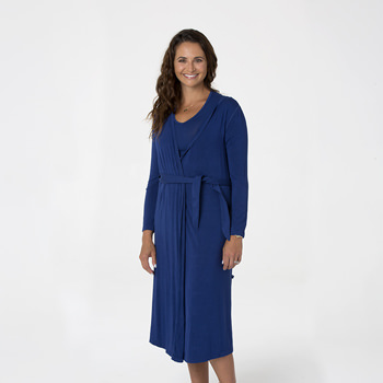 Solid Basic Robe in Flag Blue