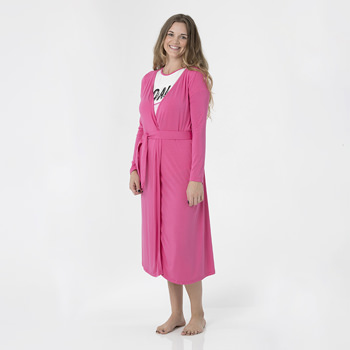 Solid Basic Robe in Flamingo