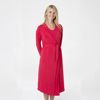 Solid Basic Robe in Flag Red