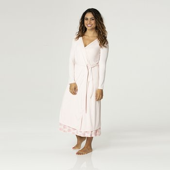 Solid Basic Robe in Macaroon