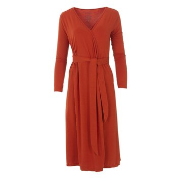 Solid Basic Robe in Red Tea