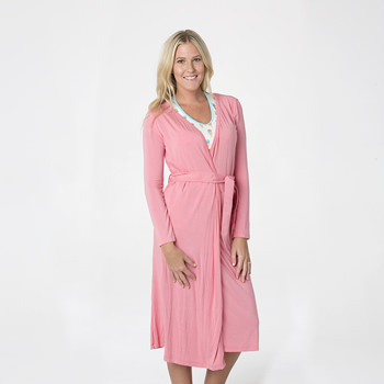 Solid Basic Robe in Strawberry