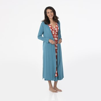 Solid Basic Robe in Seagrass