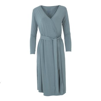Solid Basic Robe in Dusty Sky