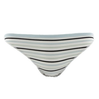 Print Women's Bikini Brief in Tuscan Afternoon Stripe