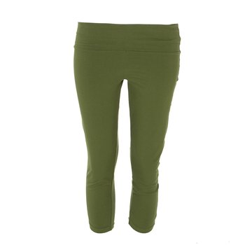 Solid Women's Luxe 3/4 Leggings in Pesto