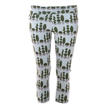 Print Women's Performance 3/4 Legging in Spring Sky Villa Garden