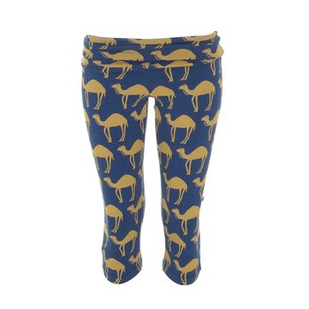 Print Women's Performance 3/4 Legging in Navy Camel