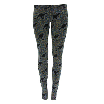 Print Women's Legging in Midnight Kangaroo