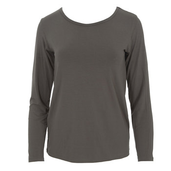 Solid Loosey Goosey Long Sleeve Tee in Falcon