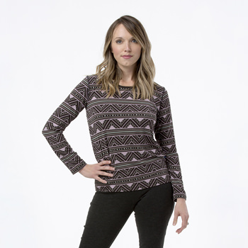 Print Loosey Goosey Long Sleeve Tee in African Pattern