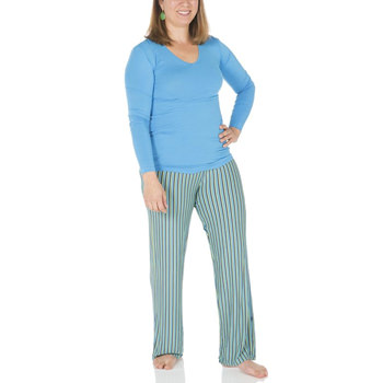 Long Sleeve One Tee & Pant Set in Boy Anniversary Stripe