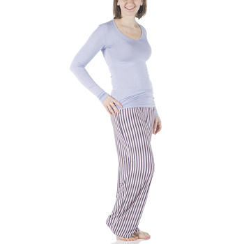 Long Sleeve One Tee & Pant Set in Girl Anniversary Stripe
