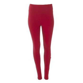 Solid Women's Luxe Leggings in Candy Apple