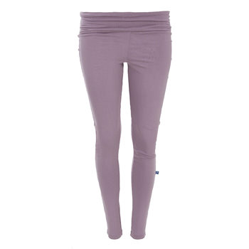 Solid Women's Luxe Leggings in Elderberry