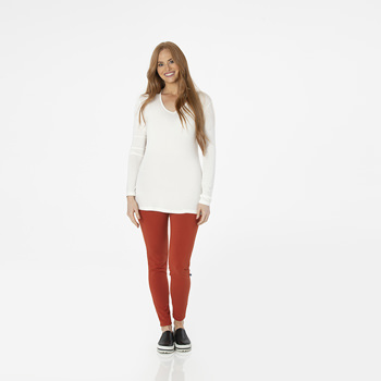 Solid Women's Luxe Leggings in Red Tea