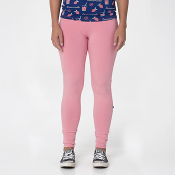 Solid Women's Luxe Leggings in Strawberry