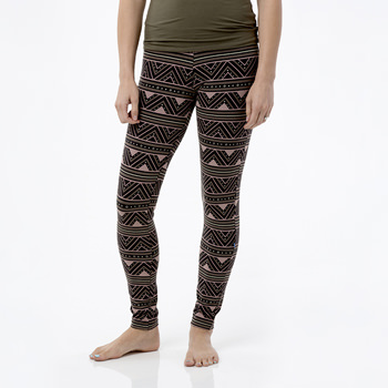 Print Women's Performance Legging in African Pattern