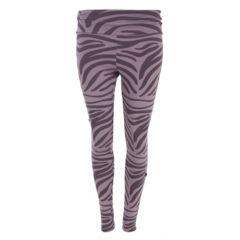 Print Women's Performance Legging in Elderberry Zebra Print