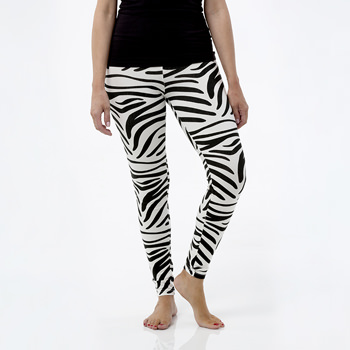 Print Women's Performance Legging in Natural Zebra Print