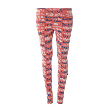 Print Women's Luxe Leggings in English Rose London Towns