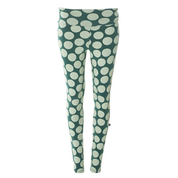 Print Women's Luxe Leggings in Ivy Mod Dot