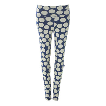 Print Women's Luxe Leggings in Navy Mod Dot