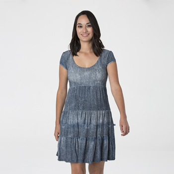Print Women's Sundress in Denim