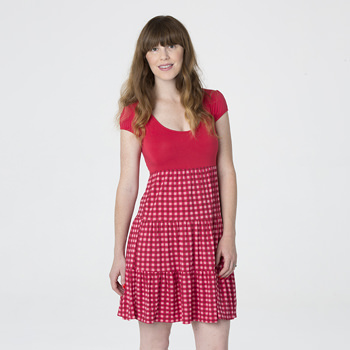 Print Women's Sundress in Flag Red Gingham