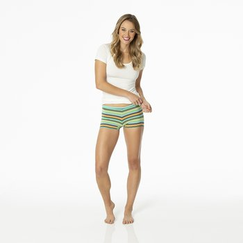 Print Women's Boy Short Underwear in Cancun Glass Stripe