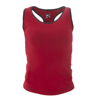 Solid Women's Luxe Tank in Candy Apple with Zebra