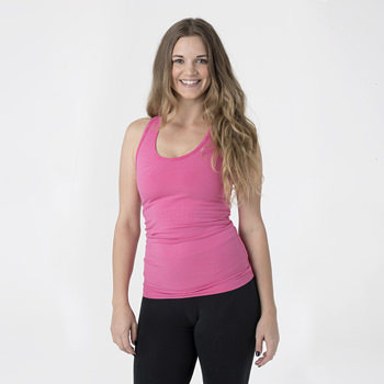 Solid Women's Performance Jersey Tank in Flamingo