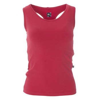 Solid Women's Performance Jersey Tank in Flag Red