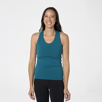Solid Women's Performance Jersey Tank in Heritage Blue