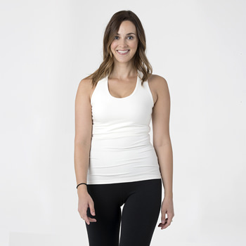 Solid Women's Performance Jersey Tank in Natural