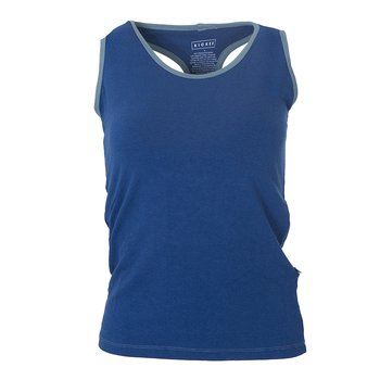 Solid Women's Performance Jersey Tank in Navy with Dusty Sky