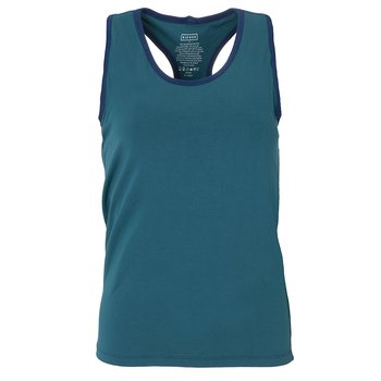 Solid Women's Luxe Tank in Oasis with Navy