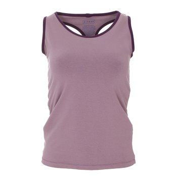 Solid Women's Performance Jersey Tank in Raisin with Wine Grapes