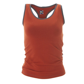 Solid Women's Performance Jersey Tank in Red Tea with Stone