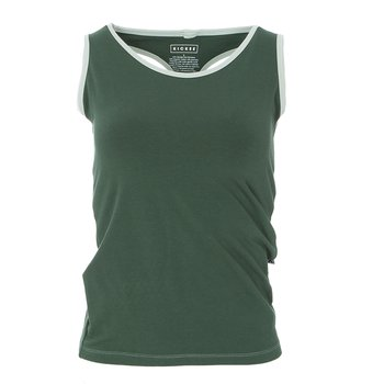 Solid Women's Performance Jersey Tank in Topiary with Aloe